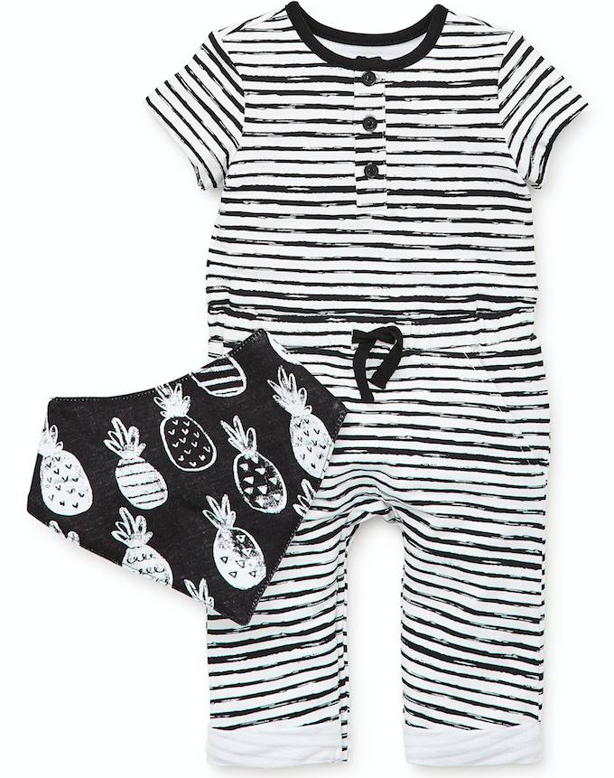 Little Me Pineapple Coverall Set