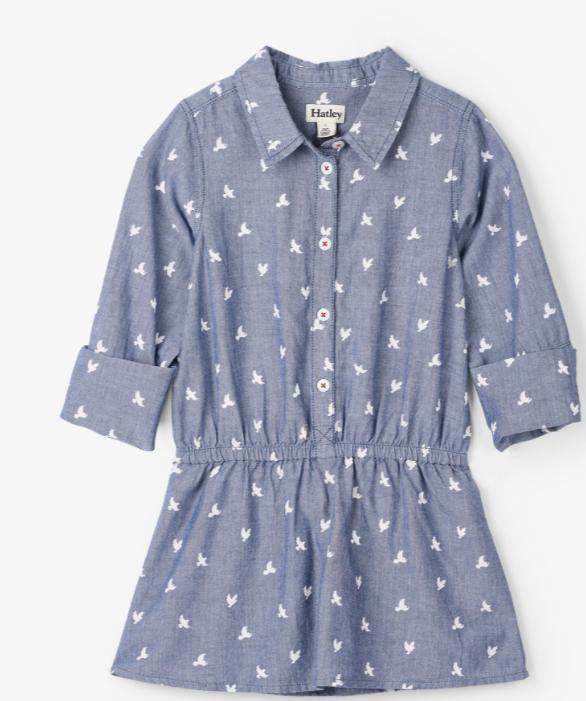 Hatley Sparrows Button Down Dress