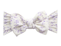 Baby Bling Printed Knot Lilac Vine