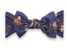 Baby Bling Printed Knot Navy Sloth