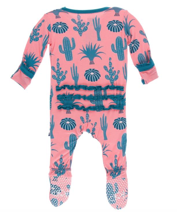 c072d440f5bca Kickee Pants Strawberry Cactus Muffin Ruffle Footie Kickee Pants Strawberry  Cactus Muffin Ruffle Footie