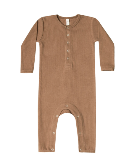 Quincy Mae Copper Organic Ribbed Jumpsuit