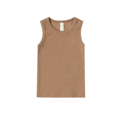Quincy Mae Copper Organic Ribbed Tank