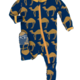 Kickee Pants Navy Camel Footie