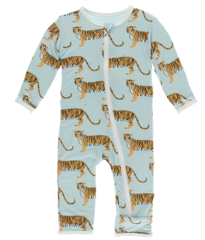 Kickee Pants Spring Sky Tiger Coverall