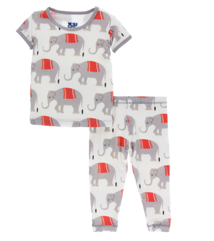 Kickee Pants Natural Indian Elephant PJ