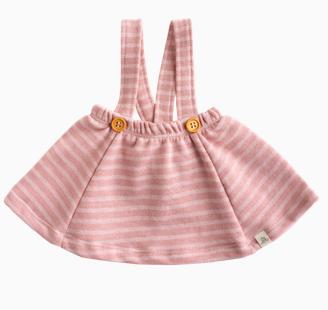 LuluAndRoo Berry Stripe Suspender Skirt