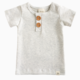 LuluAndRoo Cream Button Shirt