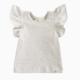 LuluAndRoo Cream Flutter Top