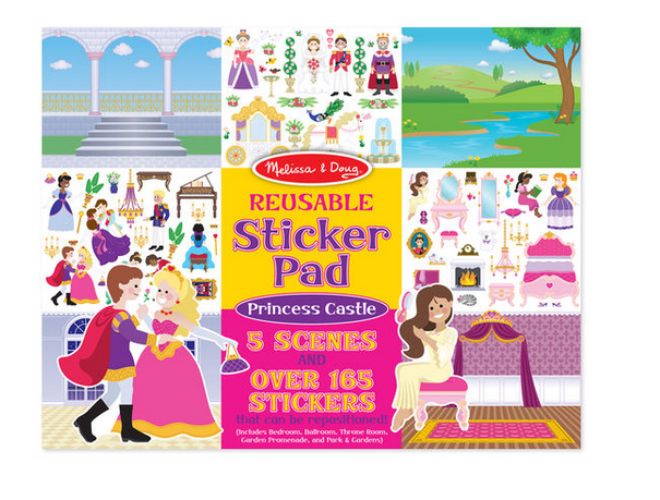 Melissa & Doug Reuseable Sticker Pad Princess Castle