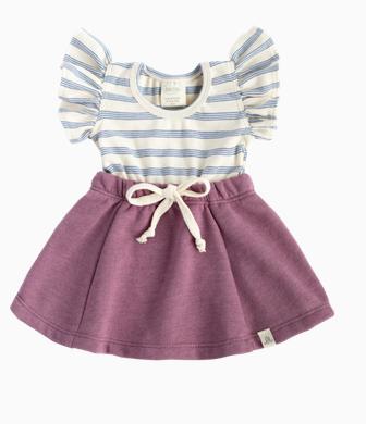 LuluAndRoo Colbolt/Raspberry Flutter Dress