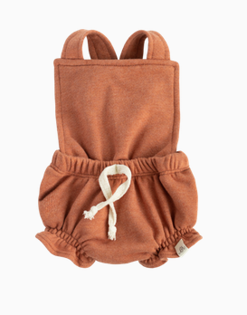 LuluAndRoo Baby Apricot Ruffle Romper