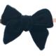 Baby Bling Velvet Skinny Bow Black