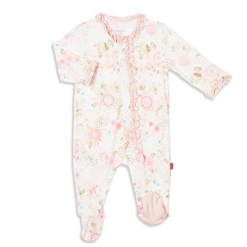 Magnificent Baby In Bloom Magnetic Footie