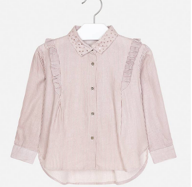 Mayoral Crystal Striped Blouse
