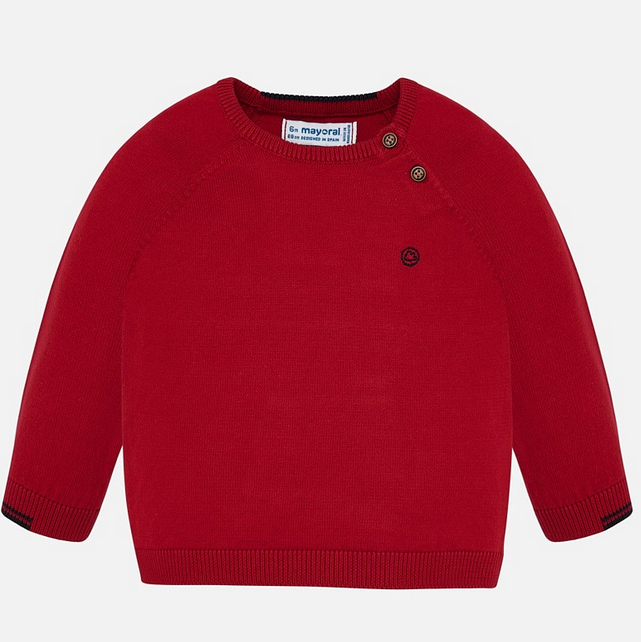 Mayoral Red Crewneck Sweater