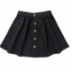 Rylee & Cru Black Button Skirt