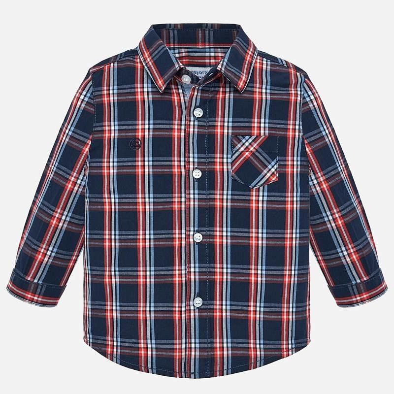 Mayoral Dark Blue Check Shirt