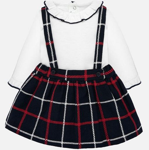 Mayoral Navy Skirt Romper Set