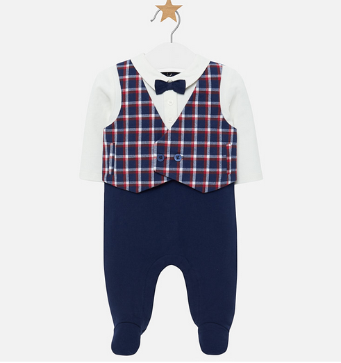 Mayoral Deep Blue Vest Onesie