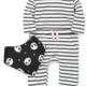 Little Me Stripe Panda Coverall