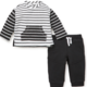 Little Me Black Stripe 2PC