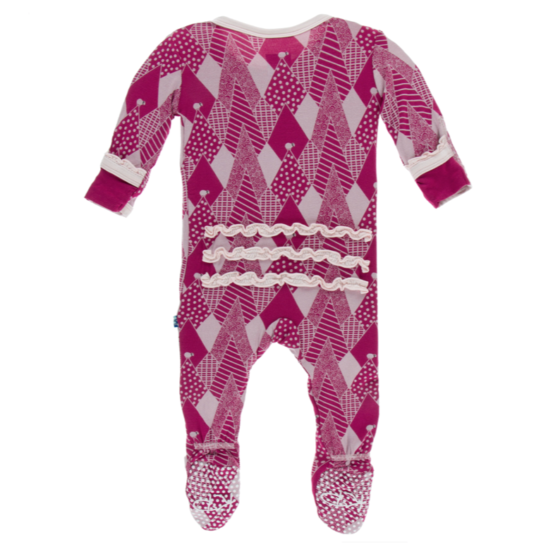 Kickee Pants Berry Mountains Muffin Ruffle Footie