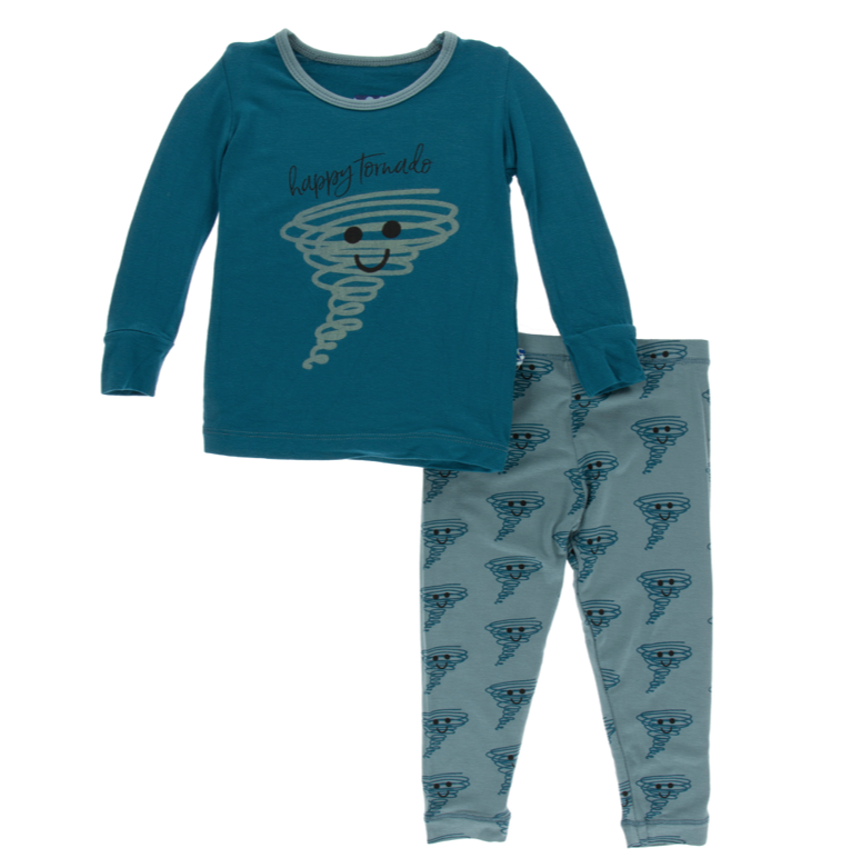 Kickee Pants Blue Happy Tornado PJ