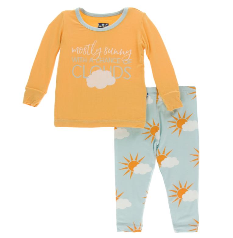 Kickee Pants Spring Sky Sunny PJ