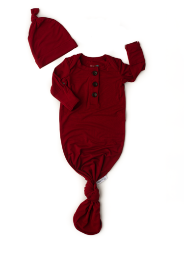 Gigi And Max Red Rust Gown/Hat