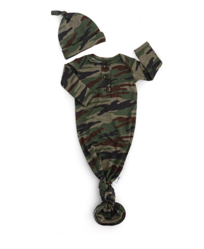 Gigi And Max Camo Gown/Hat
