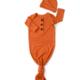 Gigi And Max Burnt Orange Gown/Hat