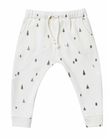 Rylee & Cru Baby Ivory Trees Pants