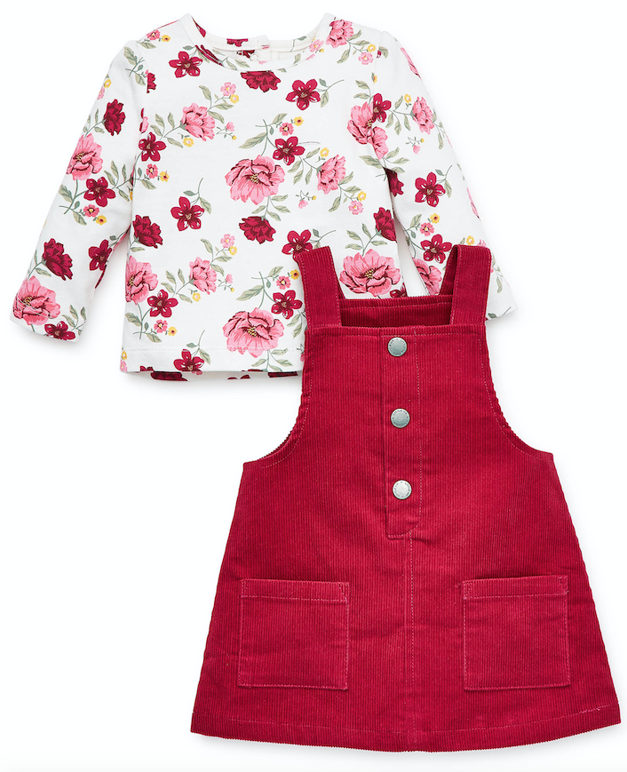 Little Me Red Floral Jumper
