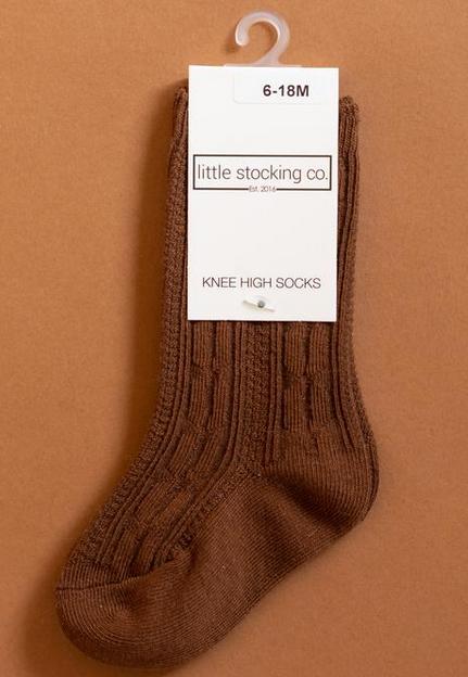 Little Stocking Company Chocolate Knee High Socks