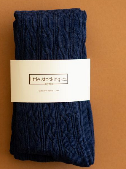 Little Stocking Company Navy Tights