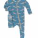 Kickee Pants Blue Sea Otter Footie