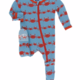 Kickee Pants Blue Crab Family Footie