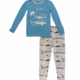 Kickee Pants Burlap Sharks PJ Set