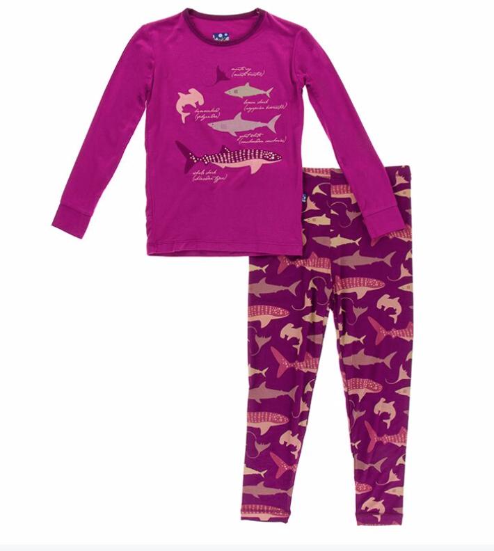 Kickee Pants Melody Sharks PJ Set