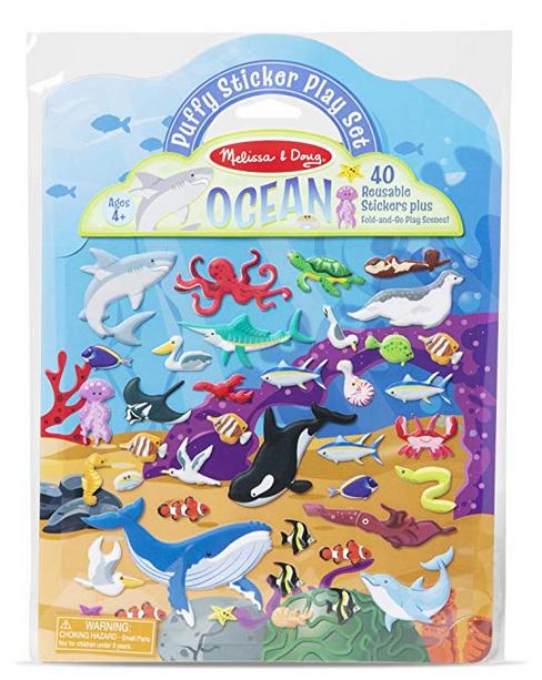 Melissa & Doug Puffy Sticker Play Set Ocean