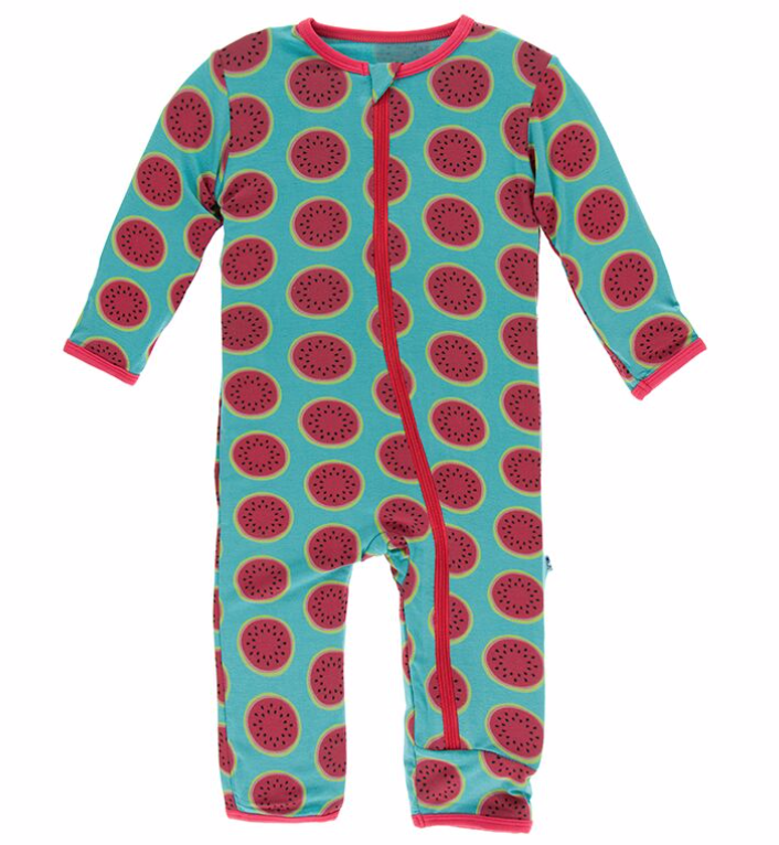 Kickee Pants Neptune Watermelon Coverall