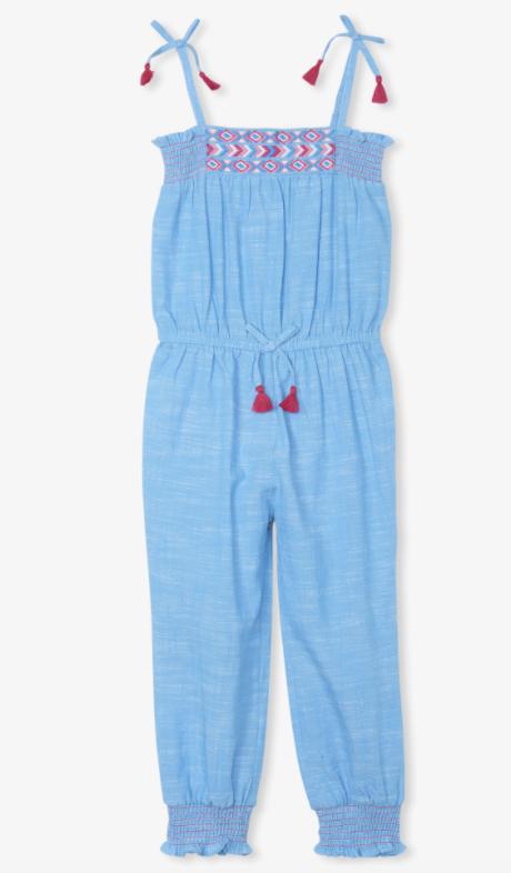 Hatley Chambray Smocked Jumpsuit