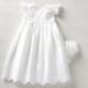 Mudpie Eyelet Christening Gown 0-6m