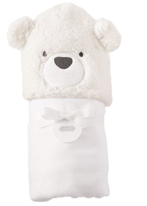 Mudpie Baby Bear Hooded Towel