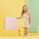 Mudpie Lemon Floral Toddler Dress