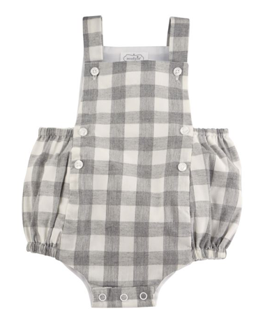 Mudpie Grey Gingham Bubble