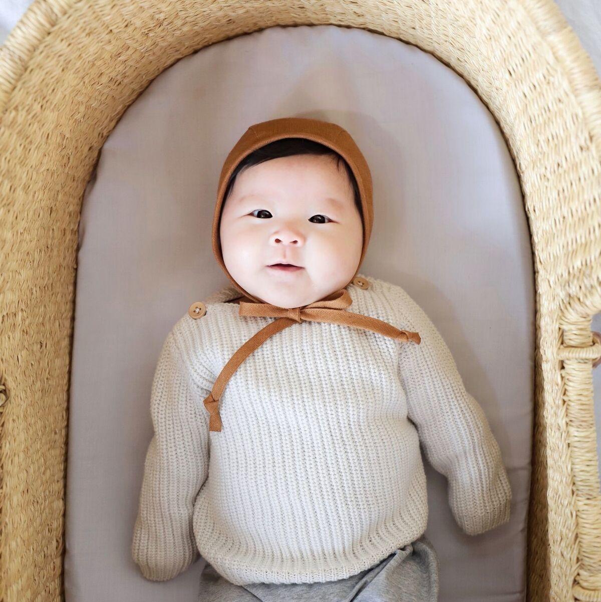 Briar Briar Rust Linen Bonnet