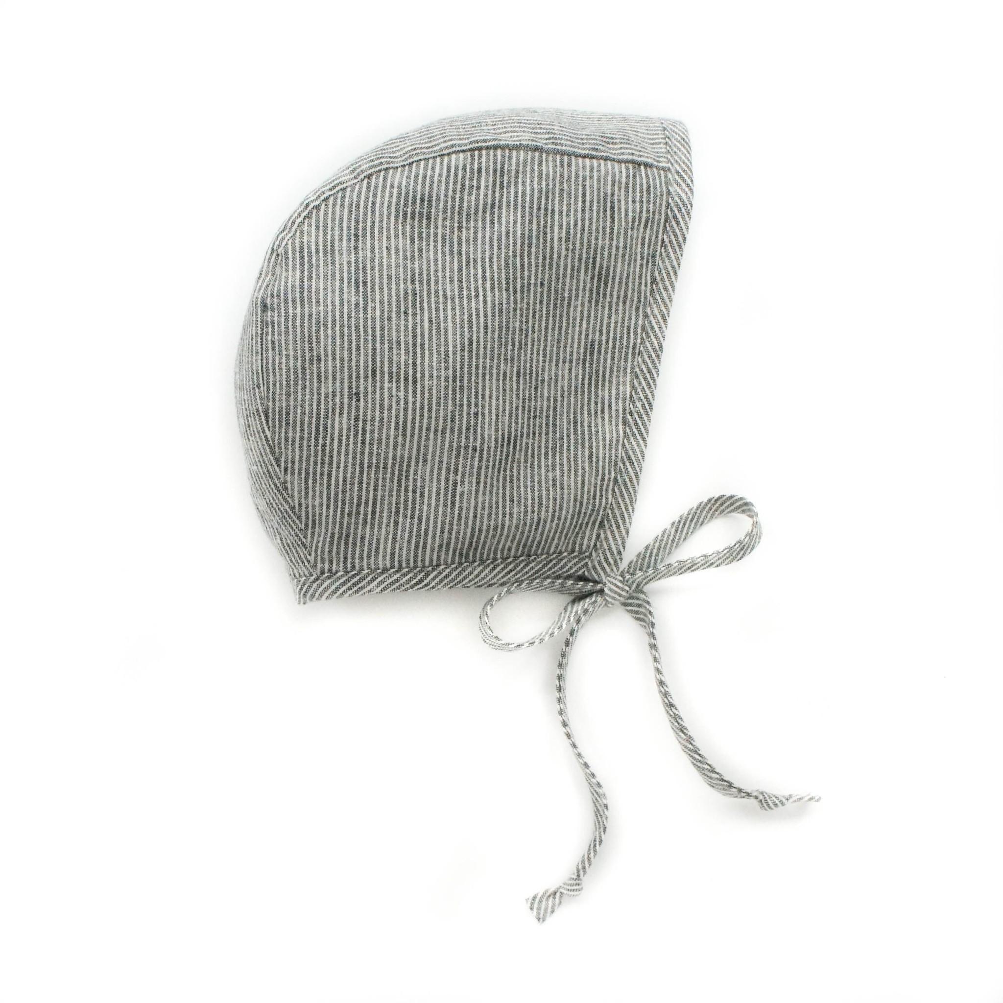 Briar Briar Natural Stripe Bonnet