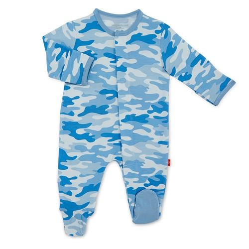 Magnificent Baby Blue Camo Modal Magnetic Footie